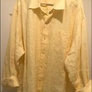 Tommy Bahama 100% Linen LS Shirt-Yellow